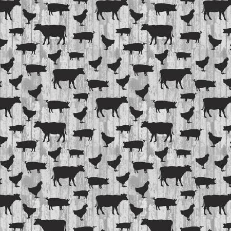 Light Grey Small Farm Animals