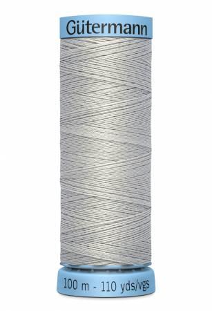 Gutermann Silk Thread 100m/109yds light grey