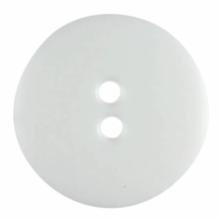 Pure White 1/2in 2 Hole Button
