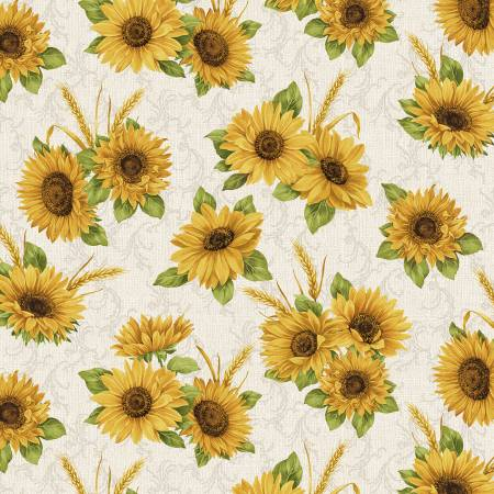 Accent on Sunflowers - Linen Sunflower Meadow