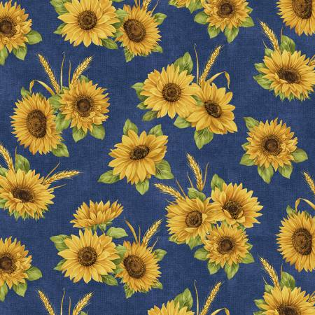 Accent on Sunflowers 10214B-51 Dance Blue