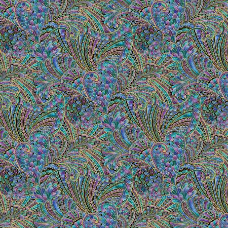 Peacock Flourish -Multi Colored Opulence with Metallic