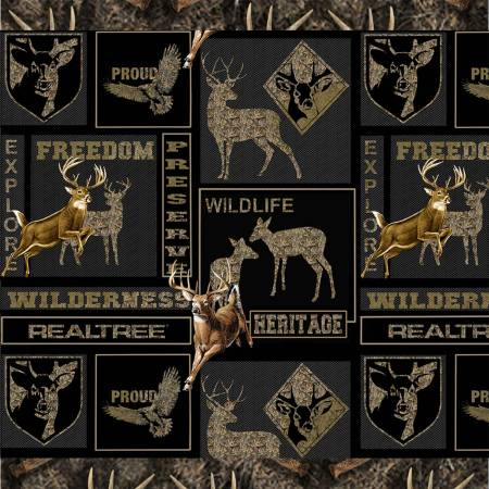 Realtree Heritage Proud Boxes Charcoal Camo