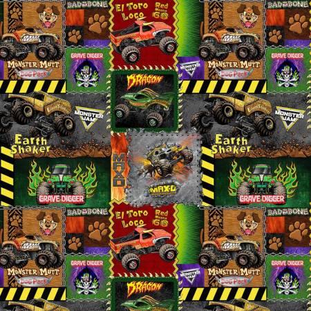 Monster Jam- Monster Truck Patch Cotton 10258