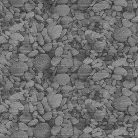 Land That I Love Grey Pebbles Fabric by the Yard
