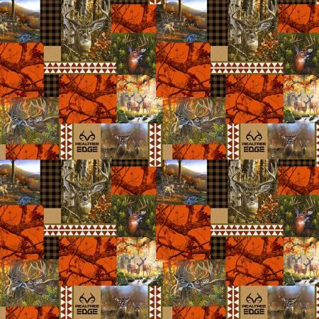 Realtree Blaze Orange Edge Patchwork Camo