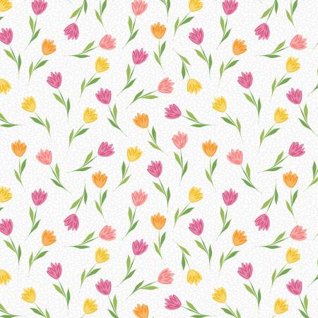 Full Bloom - White/Pink Tiny Tulips