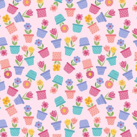 Full Bloom - Pale Pink Flower Pots