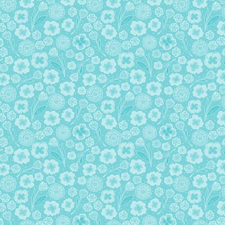Full Bloom - Turquoise Mini Blooms Floral