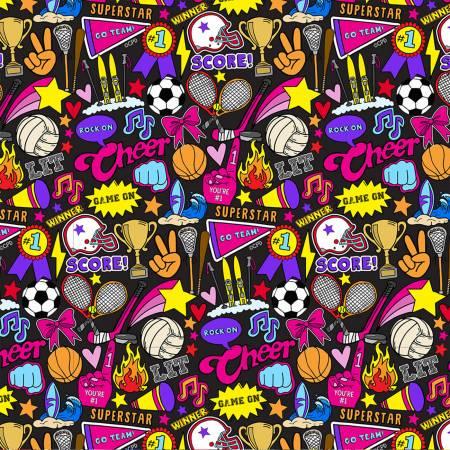 Girl Sports Design Black