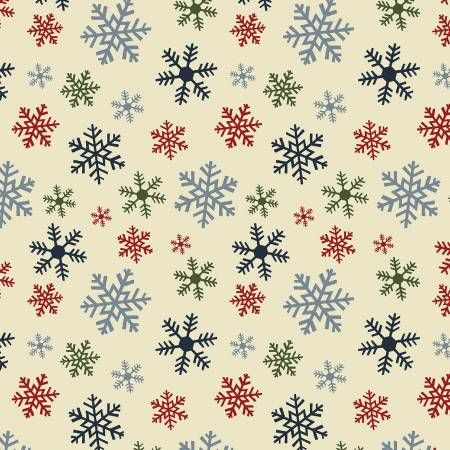 Christmas Multi Snowflake Flannel Multi