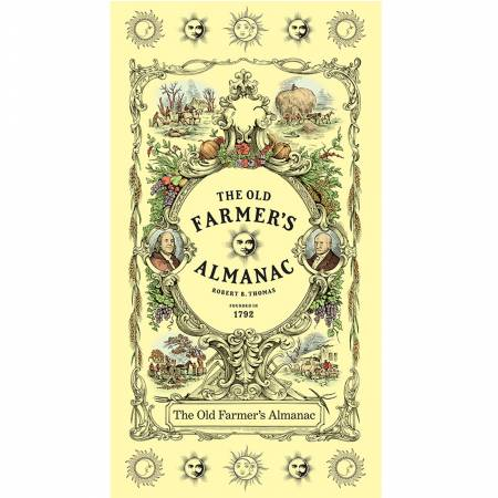Old Farmers Almanac Floral Etched Cotton Panel 24in
