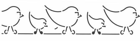 Quilt Stencil Birdies Border