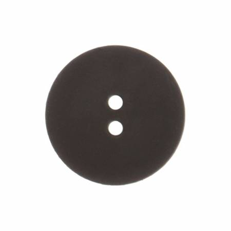 Black 7/8in 2 Hole Button