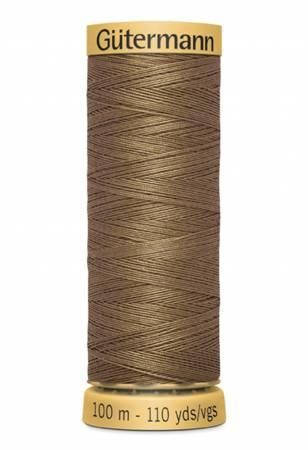 Natural Cotton Thread 100m/109yds Dark Nutmeg