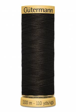 Natural Cotton Thread 100m/109yds Seal Brown
