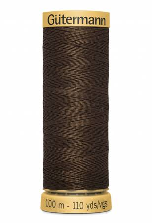 Natural Cotton Thread 100m/109yds Medium Dark Brown