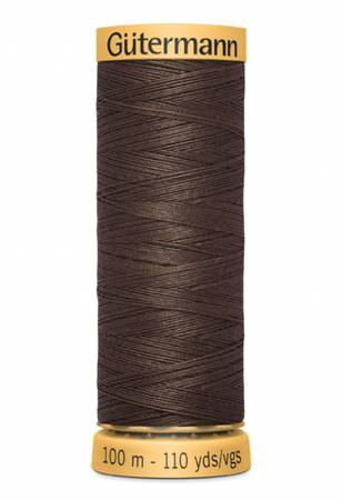 Natural Cotton Thread 100m/109yds Dark Brown color 3110