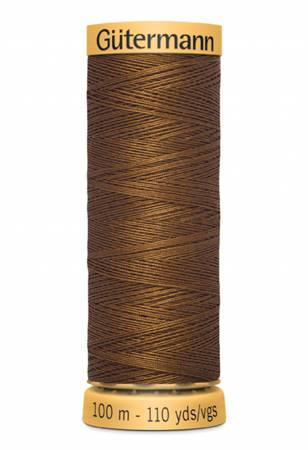 Natural Cotton Thread 100m Brown