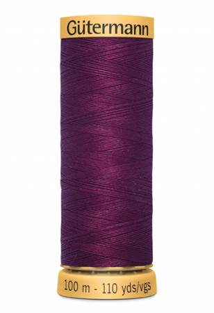 Natural Cotton Thread 100m/109yds Plum
