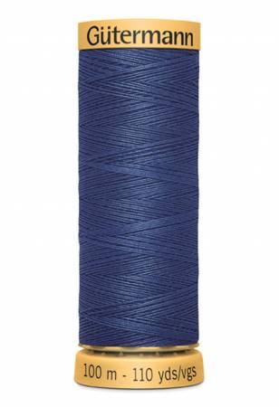 Natural Cotton Thread 100m/109yds Light Navy