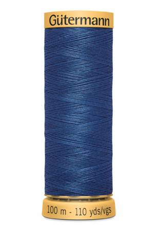 Natural Cotton Thread 100m/109yds Blue Chip