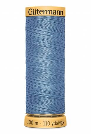 Natural Cotton Thread 100m/109yds Azure