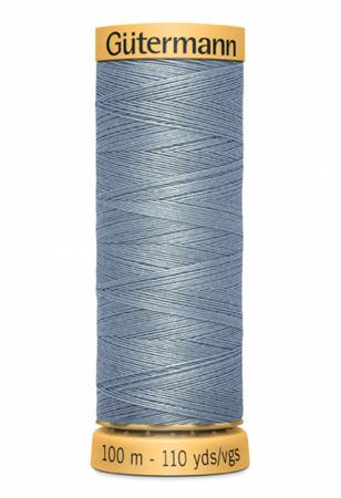 Natural Cotton Thread 100m/109yds Grey Blue