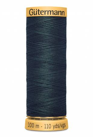 Natural Cotton Thread 100m/109yds Green Black