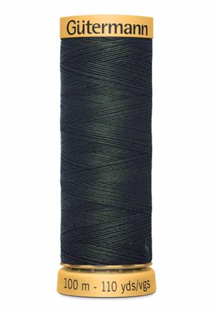 Natural Cotton Thread 100m/109yds Very Dark Green