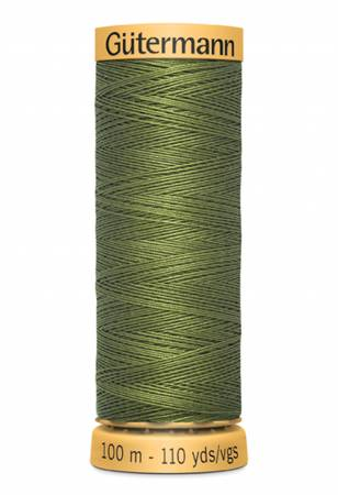 Natural Cotton Thread 100m/109yds Olive