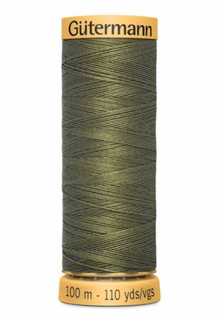 Natural Cotton Thread 100m/109yds Olive Drab
