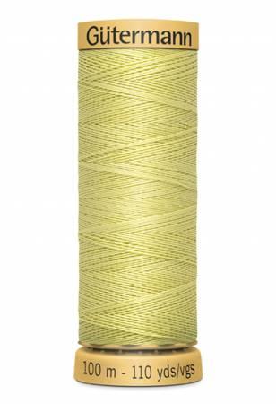 Natural Cotton Thread 100m/109yds Light Yellow Green