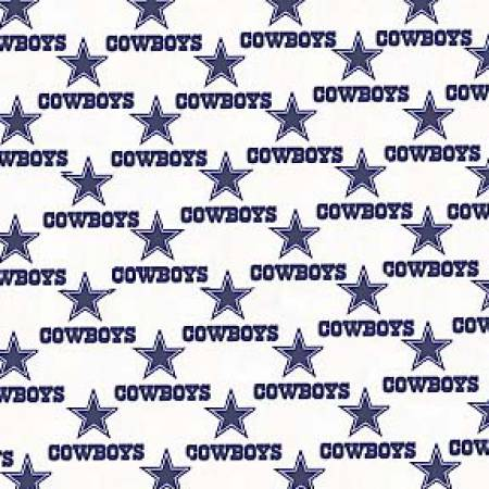 White Dallas Cowboys Cotton 60in