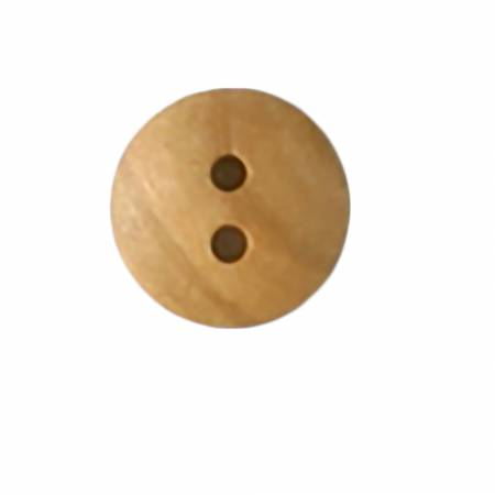 1/2in Brown Wood 2 Hole Button 3 per Card