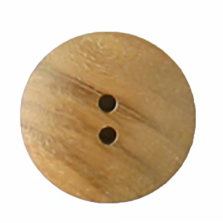 23mm Brown Wood 2 Hole Button 2 per Card