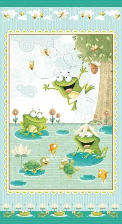 Aqua Frogland Friends Panel