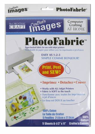 Photo Fabric Computer Crafting at Home Crafters Canvas