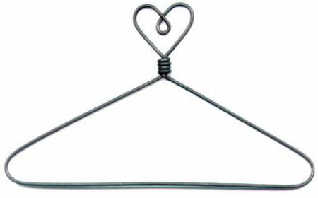 6in Heart Top with Open Center Hanger