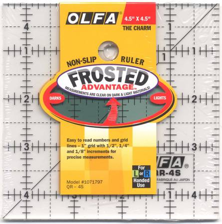 Frosted Acrylic Olfa Ruler 4-1/2 x 4-1/2