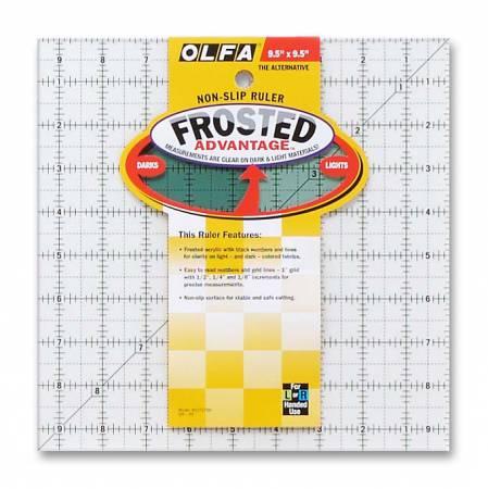 Frosted Acrylic Olfa Ruler 9-1/2 x 9-1/2 - The Alternative