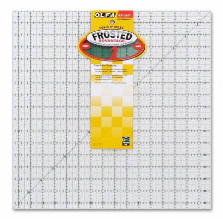 Frosted Acrylic Olfa Ruler 161/2x161/2 - The Workhorse