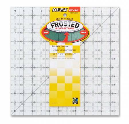 Frosted Acrylic Olfa Ruler 12 1/2SQ