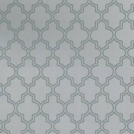 Light Grey Quatrefoil