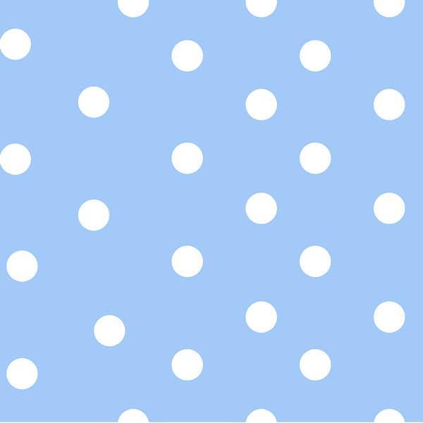Baby Blue Medium Dots Flannel