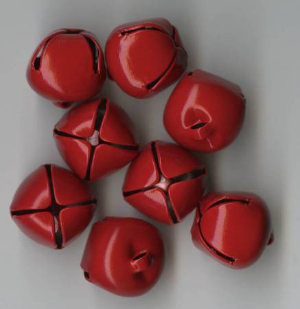 Jingle Bells 5/8in 8 Piece Package Red