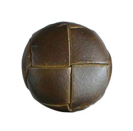 7/8in Brown Genuine Leather Button 2 per Card