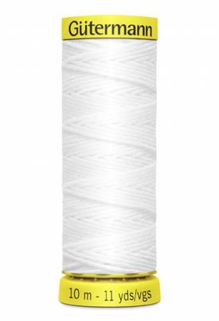 Gutermann - Elastic Thread 11yds - White