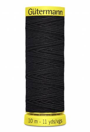 Gutermann - Elastic Thread 11 yds - Black
