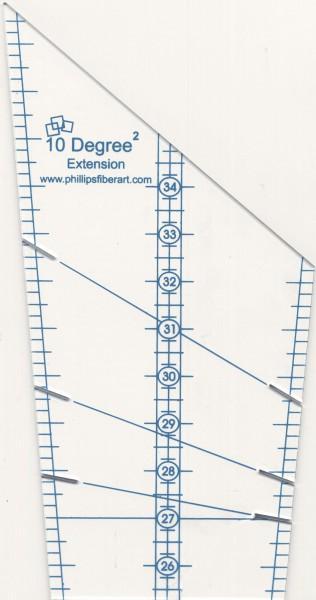 Ten Degree Squared Extension Ruler by Phillips Fiber Art